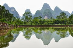 Guilin karst mountains landscape Stock Image