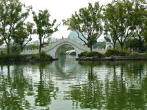 Guilin landscape. Traditional chinese garden in sommer stock image
