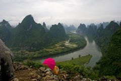 Guilin landscapes. In Guangxi,china Royalty Free Stock Photography