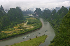 Guilin landscapes. In Guangxi,china Royalty Free Stock Image
