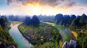 Guilin-Landschaft Lizenzfreies Stockbild