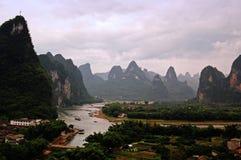 Guilin-Landschaften stockbild