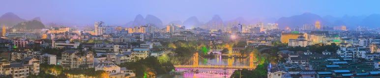 Guilin, Li River and Karst mountains, China. Stock Photos