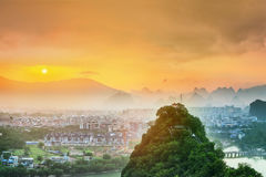 Guilin, Li River and Karst mountains, China Stock Images