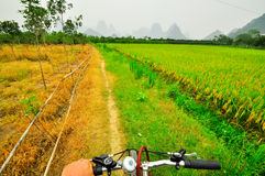 Guilin Li river landscape in Yangshuo Royalty Free Stock Images