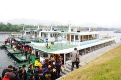 Guilin Li Rzeczny Rejsu dok, Chiny Zdjęcia Stock