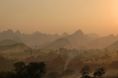 guilin liggande Royaltyfria Bilder
