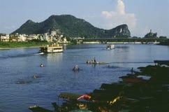 Guilin lijiang river in China stock photos
