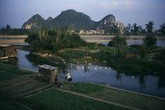 Guilin lijiang river in China royalty free stock photography