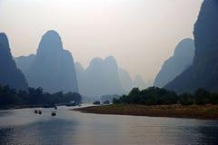 Guilin lijiang river in China Royalty Free Stock Photo