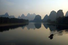 Guilin lijiang river in China Royalty Free Stock Images