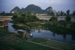 Guilin lijiang rivier in China Royalty-vrije Stock Fotografie
