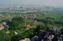 Guilin lijiang rural countryside in China royalty free stock photos