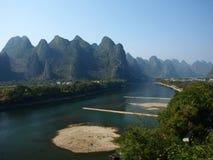 guilin lijiangflod Royaltyfria Bilder
