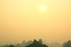 Guilin Limestone Mountains Stock Images