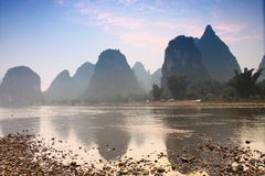 Guilin montagnoso, Cina Fotografia Stock