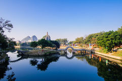 Guilin Mountain park Royalty Free Stock Photo
