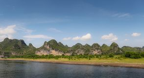 Guilin mountains and Ljiang river stock photography