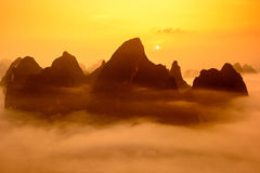 Guilin Mountains Of China Royalty Free Stock Photos