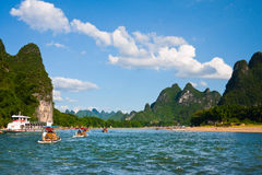 Guilin Mountains and rivers Royalty Free Stock Photo