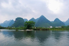 Guilin Mountains and rivers Stock Images