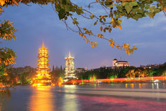 Guilin night scene Stock Image