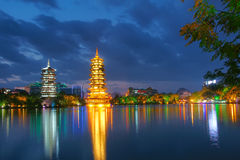 Guilin night scene Royalty Free Stock Photo