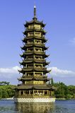 Guilin one of the twin pagodas Royalty Free Stock Photography