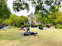 Guilin Park lawn Royalty Free Stock Photo
