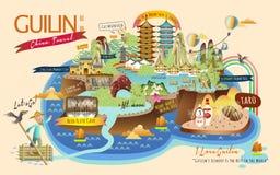 Guilin-Reiseelementsammlung lizenzfreie abbildung