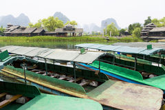 Guilin River Boats Stock Photos
