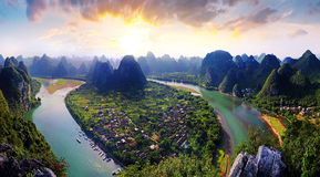 guilin sceneria Obraz Royalty Free