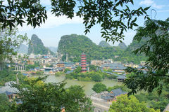 Guilin scenery. The cityscape of Guilin City in Guangxi,China Royalty Free Stock Photos