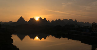 Guilin Scenery sunset Stock Images