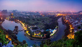 Guilin stadspanorama Royaltyfri Foto
