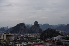 Guilin-Stadtansicht Stockbild