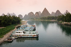 Guilin sunset Royalty Free Stock Image
