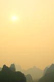 Guilin Sunset Royalty Free Stock Photography