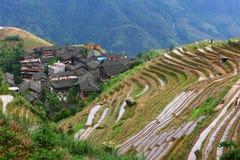 Guilin-Terrasse Stockbild