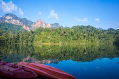 Guilin Thailand paradise dam ,surat thani,thailand Royalty Free Stock Image