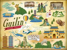 Guilin travel elements collection Stock Images