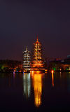 Guilin Twin Towers Royalty Free Stock Photos