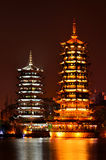 Guilin Twin Towers Stock Photo