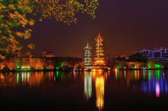 Guilin Twin Towers Royalty Free Stock Image