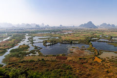 Guilin will Xiankasite National Wetland Park Stock Photos