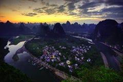 Guilin Xingping Town China royalty free stock image