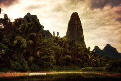 Guilin Xingpingzhen Lookout stock image