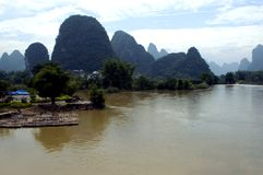Guilin, Yangshuo landscape Stock Photo