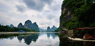 Guilin Yangshuo landskap Arkivbilder