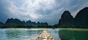 Guilin Yangshuo landskap Arkivfoton